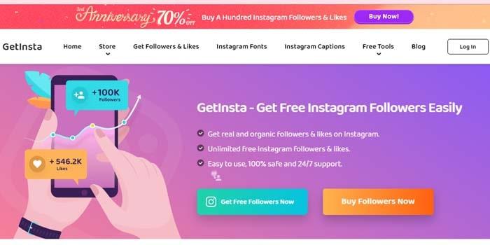 GetInsta instagram ke followers badhane wala app