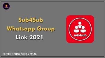 Sub4Sub Whatsapp Group Link 2021